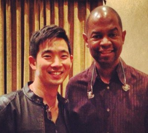 Earl Klugh & Jake Shimabukuro - friends and collaborators - backstage at The Blue Note NYC in 2013.